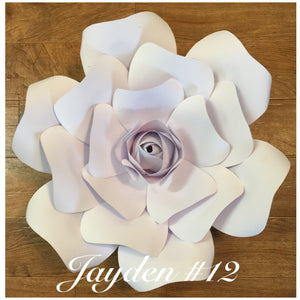 Paper flower template # 12