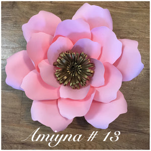 Paper flower template #13