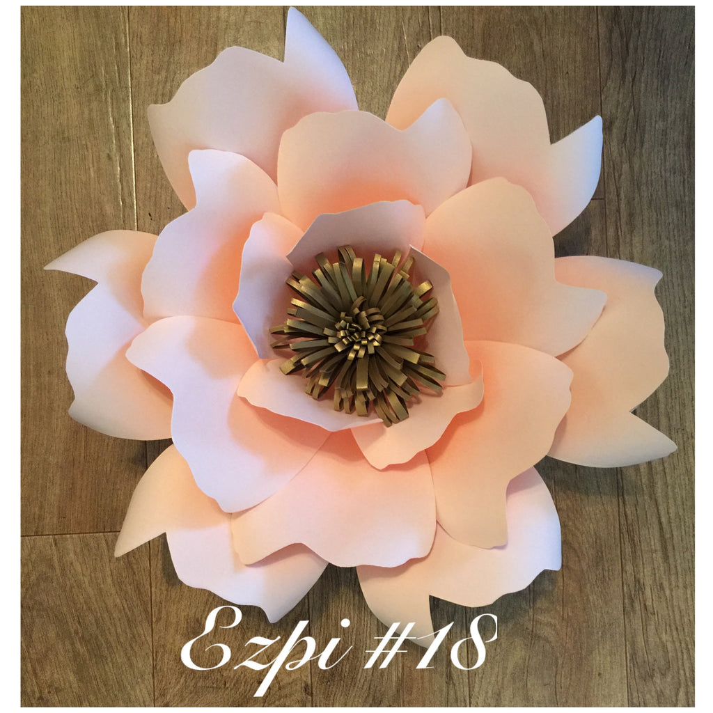 Paper flower template #18