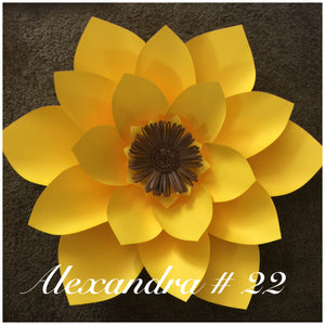 Paper flower template #22