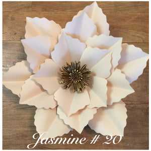 Paper flower template #20