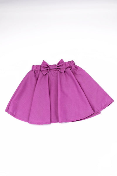 Pretty in purple skirt