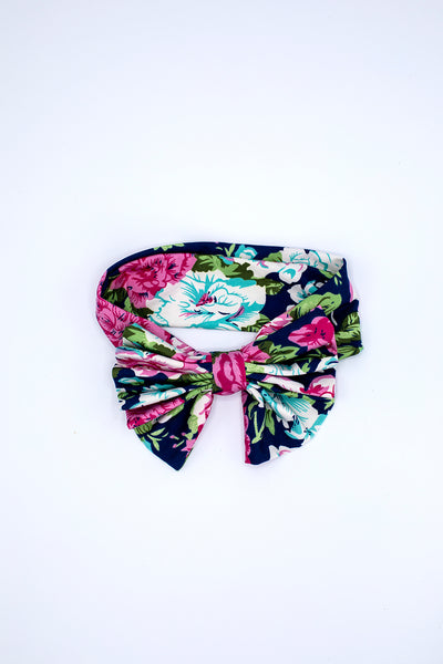 floral bow head band