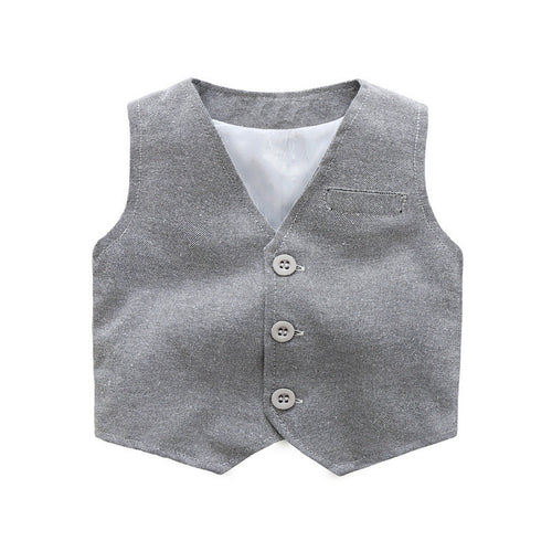 Grey European style baby boy clothing set