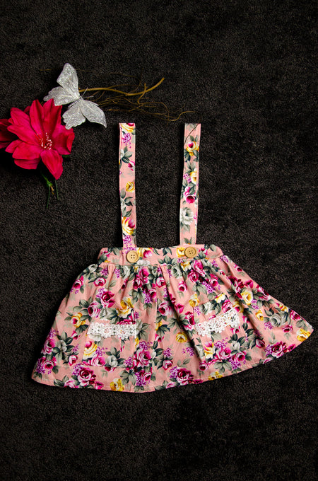 Pink and blue floral 2 piece set