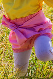 Plain pink colour baby shorts with bow belt/headband. 2 piece set.