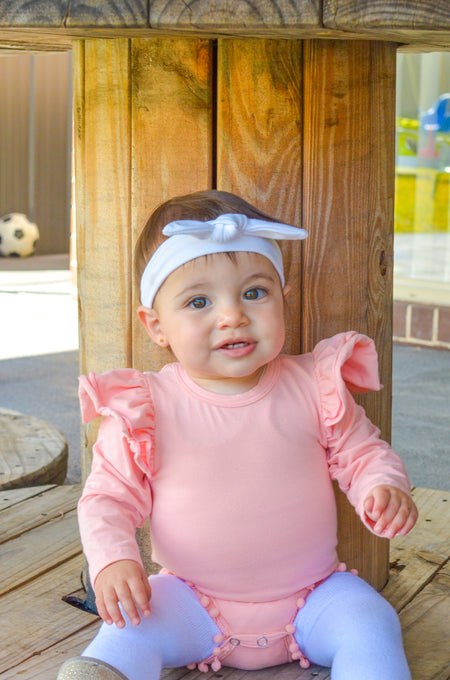 Overall set: Mustard and white with bonus headband