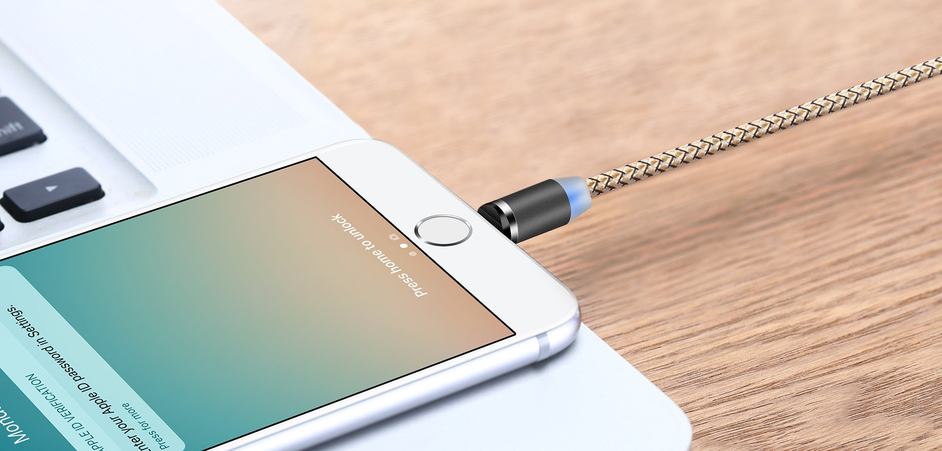 Cross-Device Magnetic Cable For Lightning/Micro-USB/USB-C