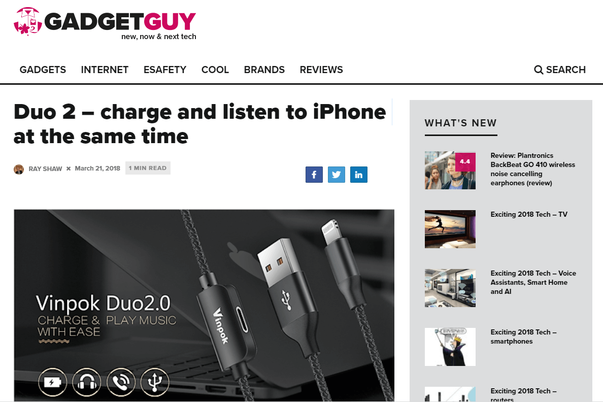 Duo 2 – charge and listen to iPhone at the same time