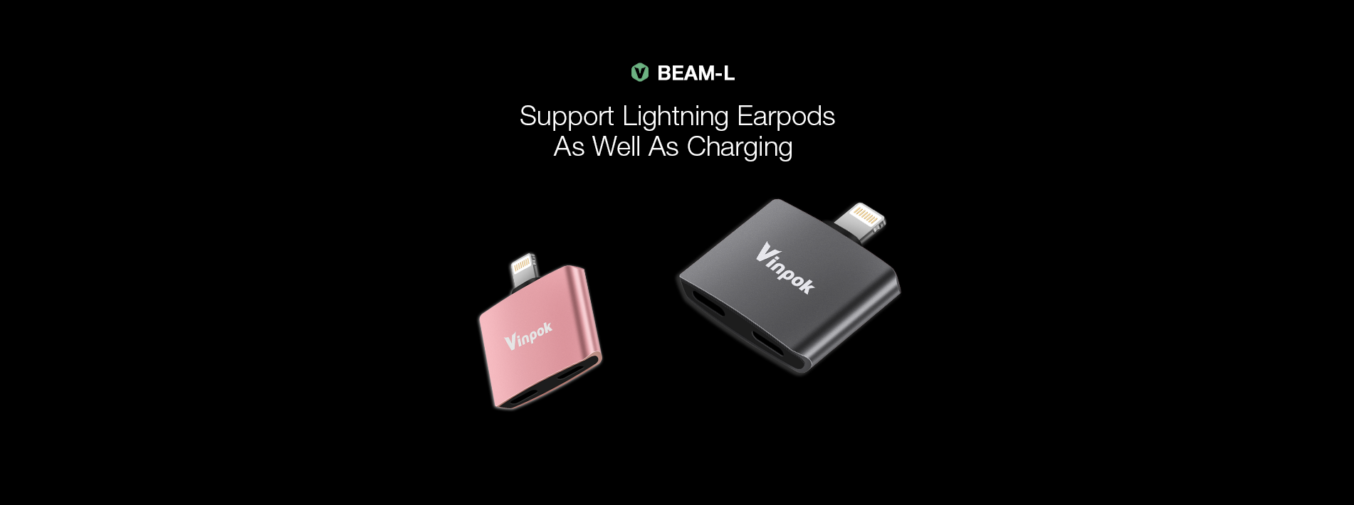 support lightning earpods as well as charging