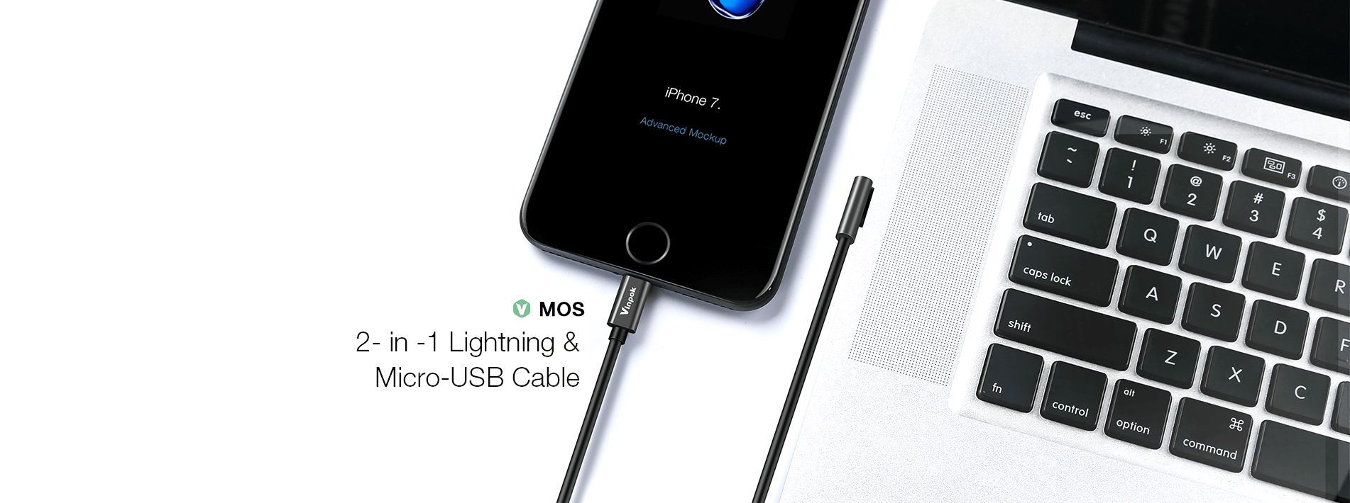 2 in 1 lightning & micro-usb cable
