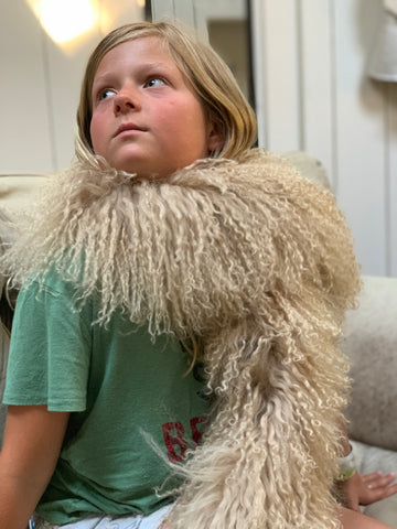 MONGOLIAN SHEEP SCARF