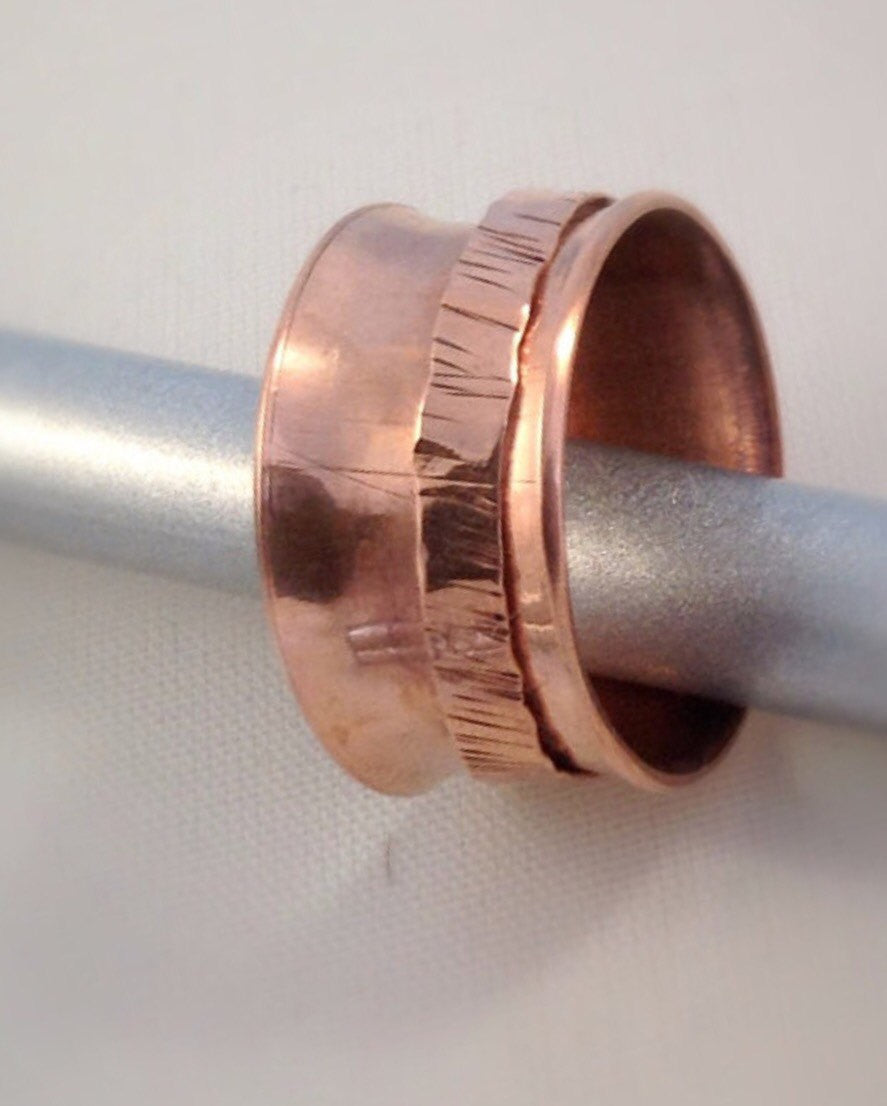 Spinner Rings - Copper Spinner Rings for Women - Spinner Rings for Men - Desert Shine Designs