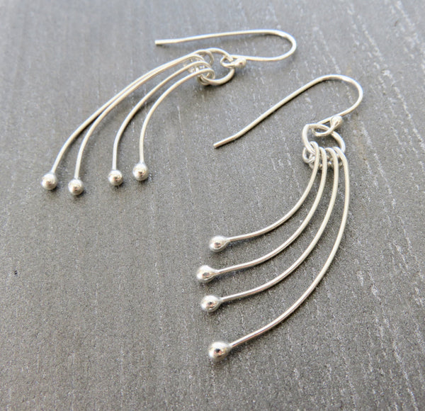 Dangle Earrings - Silver Dangling Earrings - Dangle Earrings in Silver - Desert Shine Designs