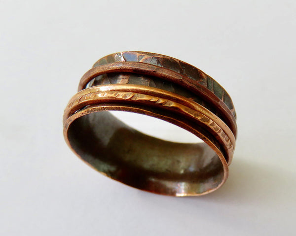 Wide Spinner Ring in Copper