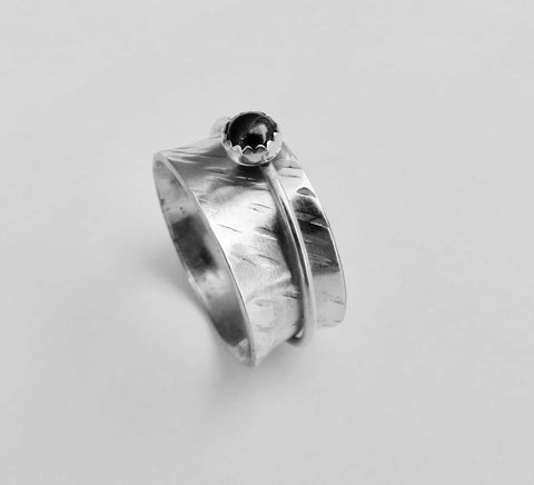 Unique Wedding Rings, Spinner Ring for Women - Desert Shine Designs