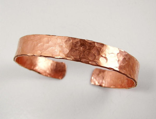 Mens Copper Bracelet, Hammered Copper Cuff, Arthritis Copper Cuff - Desert Shine Designs