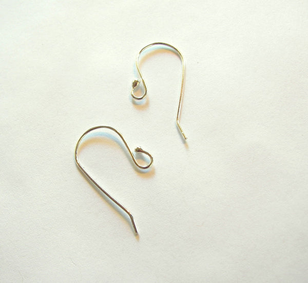 Ear Wires, Sterling Silver Ear Wires, Handmade Ear Wires - Desert Shine Designs