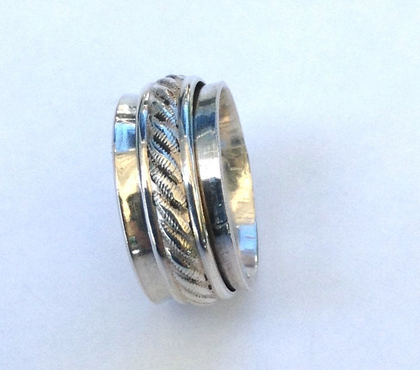 Silver Spinner Ring - Wedding Spinner Ring - Worry Ring - Spinner Ring For Her - Eternity Ring - Desert Shine Designs