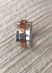 Wedding Spinner Ring - Spinner Ring for Women, Silver Spinner Ring - Desert Shine Designs