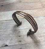 Wire Bangle Bracelet, Wire Copper Cuff, Copper Bracelet For Men - Desert Shine Designs