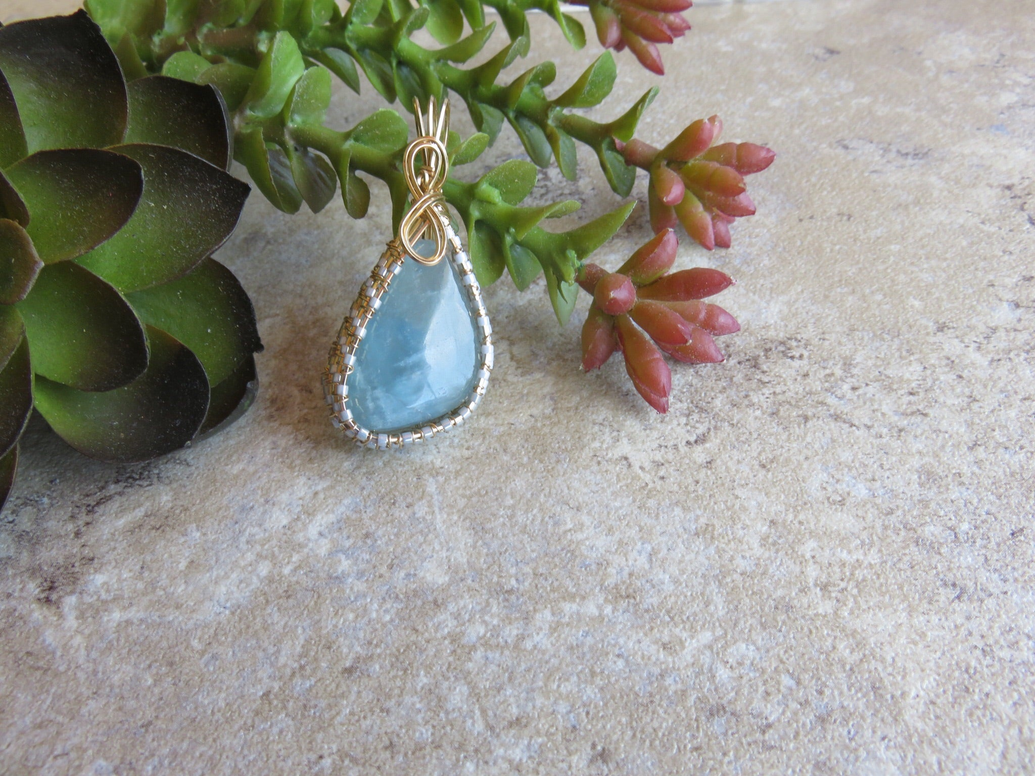 Blue Chalcedony Necklace - Desert Shine Designs