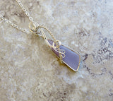 Wire Wrapped Stones - Wire Wrapped Flourite Stone Necklace - Desert Shine Designs