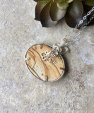 Biggs Picture Jasper Pendant Necklace Silver - Desert Shine Designs
