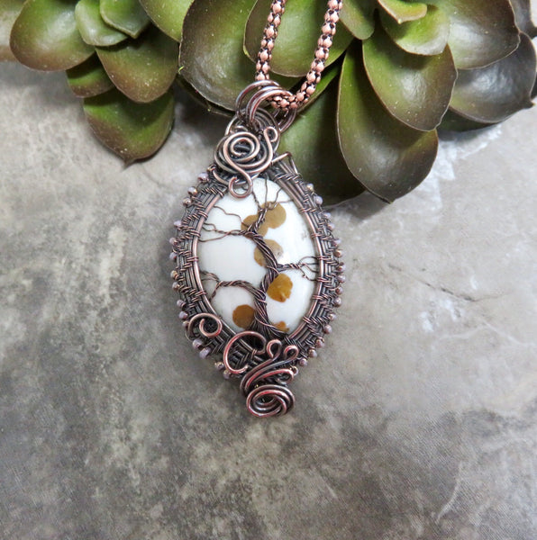 Tree Necklace, Tree of Life Necklace, Tree Through The Window Pendant - Desert Shine Designs