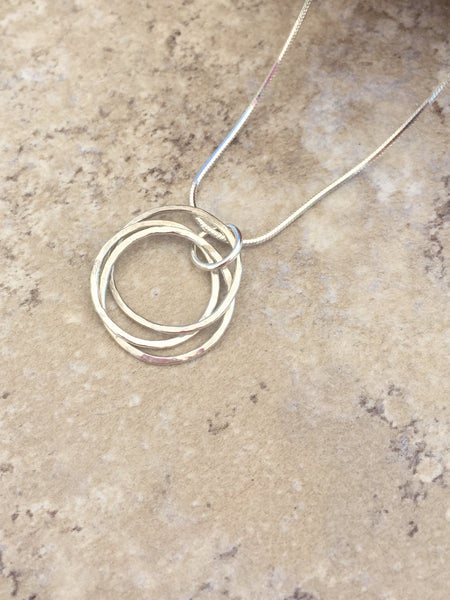 Dainty Silver Hoop Necklace - Desert Shine Designs