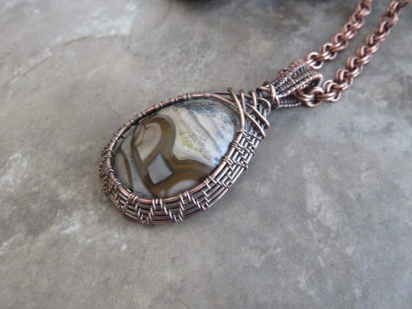 Wire Wrapped Stone - Jasper