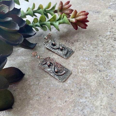 Sterling Silver Rectangle Post Earrings