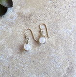 Milky Quartz, Drop Earrings, Small Earrings, Silver Earrings - Desert Shine Designs