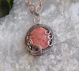 Cherry Creek Jasper Copper Wire Wrap Necklace
