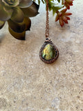 Green Labradorite Pendant Necklace