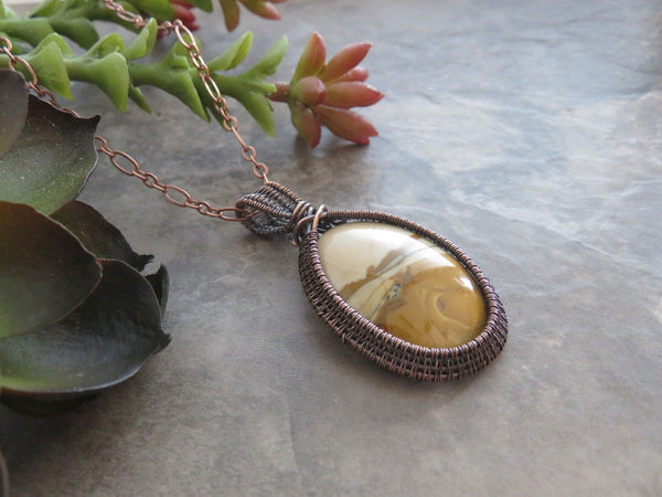 Picture Jasper Necklace, Biggs Picture Jasper Pendant Necklace - Desert Shine Designs