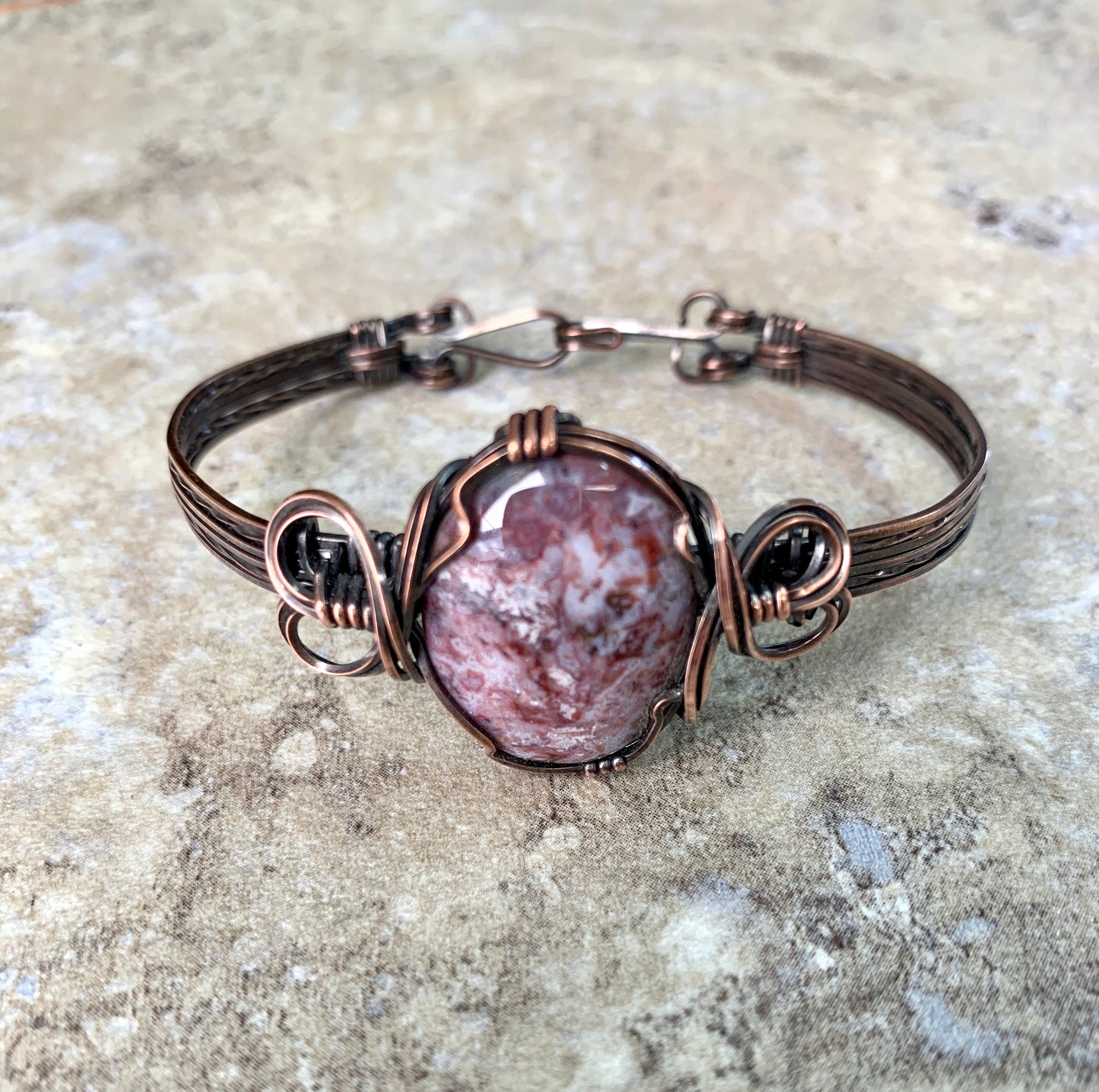 Burro Creek Jasper Copper Bracelet