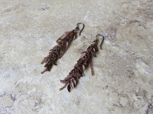 Copper Leaf Earrings - Desert Shine Designs