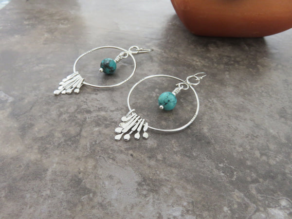 Long Bohemian Hoop Earrings