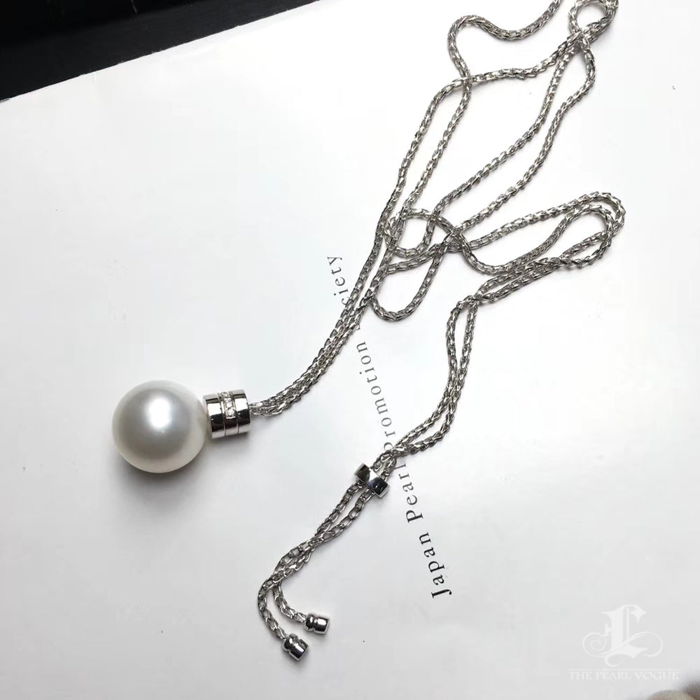 b3800adcb30c29 ... 13-14mm Golden or White South Sea Pearl Lariat Necklace