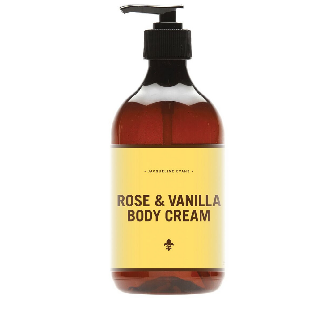 rose vanilla body cream jacqueline evans