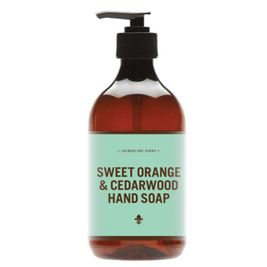 sweet orange cedarwood hand soap