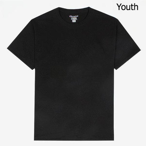 Champion Sleeve Logo Youth T-Shirt Black