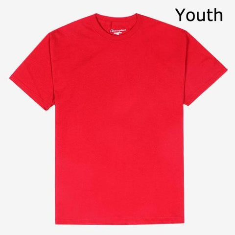 Champion Sleeve Logo Youth T-Shirt Red
