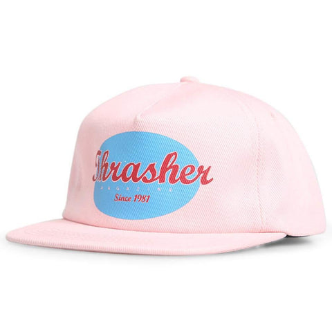 Thrasher Oval Hat Pink