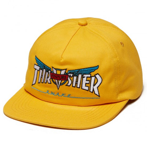 Thrasher x Venture Collab Snapback Hat Yellow