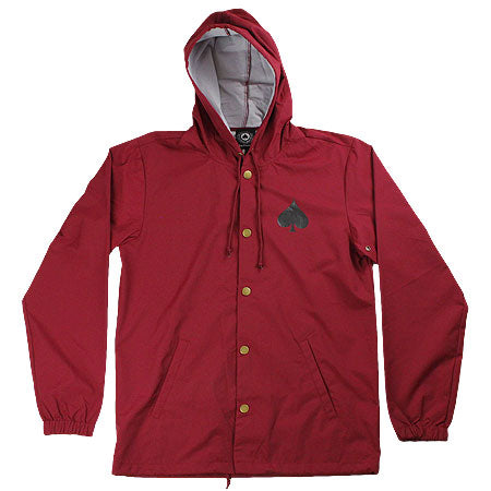 Thrasher New Oath Water Resistant Coach Jacket Cardinal