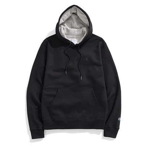 Champion Men's Powerblend̴ Sweats Pullover Hoodie Black