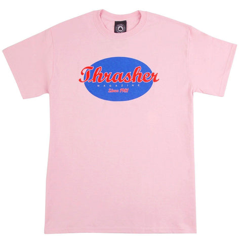Thrasher Oval Tee Pink