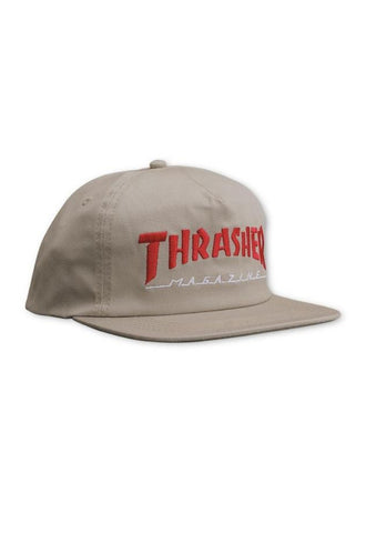 Thrasher Outlined Snapback Cap - Grey/Red